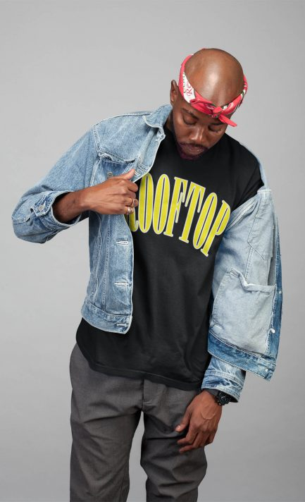 Oversize Shirt College Logo Yellow von Rooftop clothing!