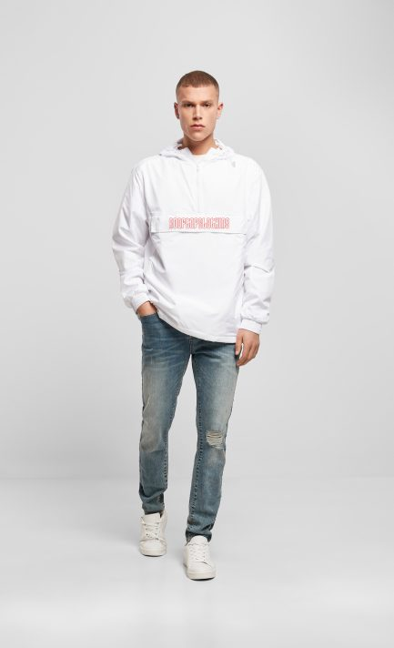 PULL OVER JACKE MEN ROOFTOP LOGO WHITE